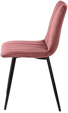La sedia spagnola Denia Sedia, Tessuti, Rosa Trucco, 44 cm (larghezza) x 55 cm (profondità) x 88,5 cm (altezza)