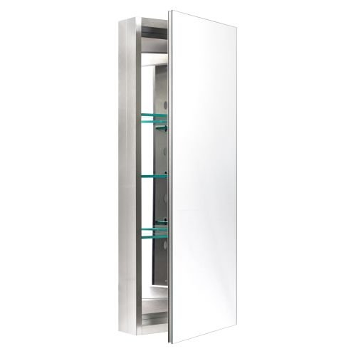 Miseno MBC3615 Dual Mount 36'' X 15'' Medicine Cabinet (Surface or Recessed Mounti, Brushed Nickel by Miseno