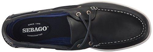 Sebago Men's Liteside Two Eye Boat Shoe Navy Leather C44J8BGzT