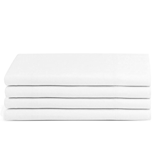 Beckham Hotel Collection Luxury Pillow Case (4 Pack) - Soft-Brushed Microfiber, Hypoallergenic, and Wrinkle Resistant - King - White