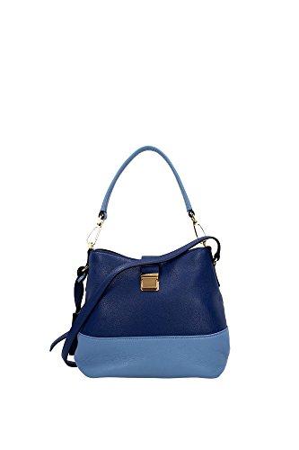 R1951CCOBALTOASTRALE Miu Miu Satchels Women Leather Blue