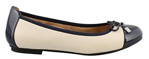 sale discounts Vionic Women's Spark Minna Ballet Flat Navy Cream looking for Vcb45mT1Q