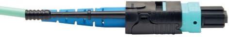 N846-02M-24-P 24 Fiber Tripp Lite MTP // MPO Patch Cable 100GBASE-SR10 6-ft. CXP 2M Aqua 100GbE OM3 Plenum-rated