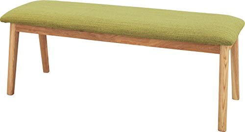 モタ ベンチ [W102 x D33 x H37cm] 天然木(アッシュ) ウレタン塗装 ポリエステル コットン
