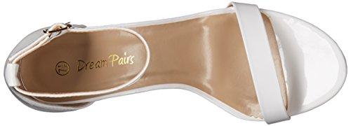 DREAM PAIRS Womens Jenner Dress Pump White Patent 3Rmje