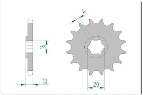 -STARTER SUZUKI GZ 125 W,X,Y,K1,K2,K3,K4,K5,K6,K7,K8 MARAUDER AFAM Kettensatz