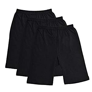 fasla Pure Cotton Cycling Shorts for Girls & Kids (Pack of 3)