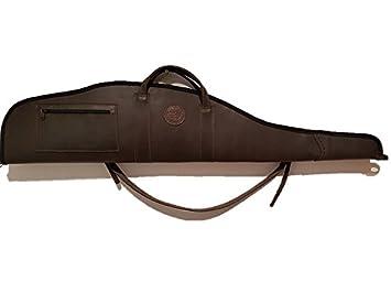 CAZA Y AVENTURA Personalizada con Iniciales. Funda de Piel para Rifle montado con Visor. Medida 120 cm: Amazon.es: Deportes y aire libre