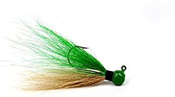 Bass Details about  /4 Bucktail Hair Jigs 1//8 oz for Crappie Northern Walleye