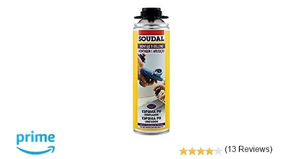 Soudal M276617 - Limpiador de espuma poliuretano 500ml: Amazon.es: Bricolaje y herramientas