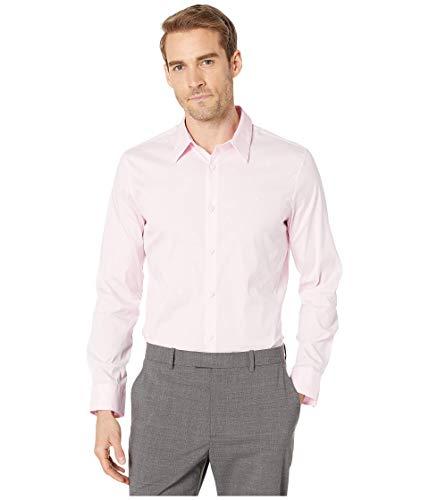 Calvin Klein Men's Stretch Cotton Button Up Shirt, Plush Pink Maya, Large