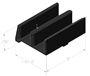 coastal shower doors cp1101 paragon royal palm series replacement bypass center guide
