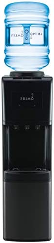 Primo – Easy Top Loading Water Dispenser – Black – Stainless Steel – 3 Spout – Instant Cold, Cool and Hot Water – UL Certified and Energy Star