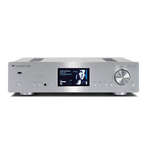 Cambridge Audio Azur 851N Stereo Digital Preamplifier, Network Player | Hi-Fi All-in-One Receiver | Wireless Media Streaming with WiFi, Apple AirPlay and Android Compatible (Silver)