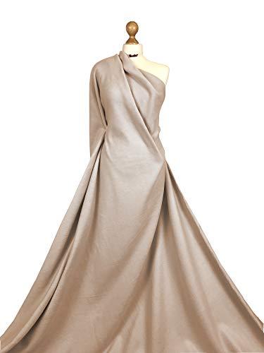 Premium Quality Plain Anti Pill Polar Fleece Soft Warm Winter Fabric Material (Beige, 8