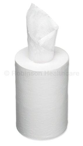 12 x Readi Paper Mini Centrefeed Roll 1 Ply White 126m x 19cm X 12