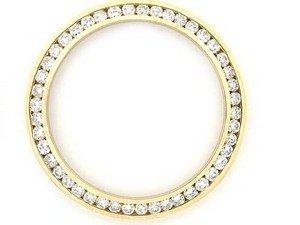Midsize 1.40 CTダイヤモンドベゼル14 KyのRolex Watch 31 mm B00A6DGIZM