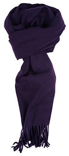 Love Lakeside-Men's Cashmere Feel Winter Solid Color Scarf (One, 00-0 Bright Navy)