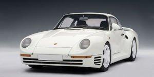 Porsche 959 White AutoArt 1:18 Diecast Model Car 18 Autoart Diecast Model