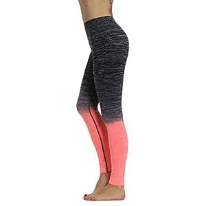 Prolific Health Fitness Power Flex Yoga Pants Leggings - All Colors - XS - XL (Small, Gray/Peach Ombre)