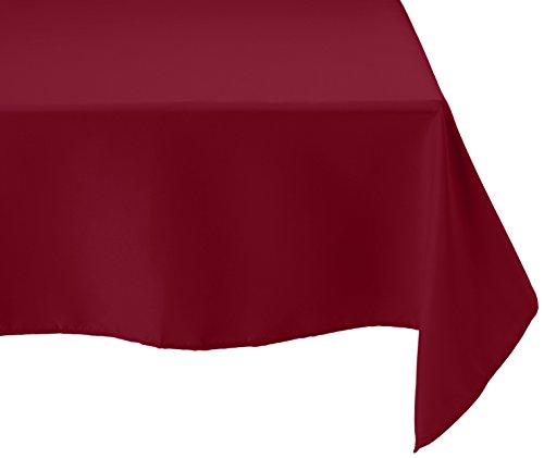 Burgundy Elegance Square Tablecloth (LinenTablecloth 70-Inch Square Polyester Tablecloth Burgundy)