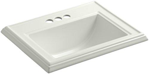 KOHLER K-2241-4-NY Memoirs Classic Drop-In Bathroom Sink with 4