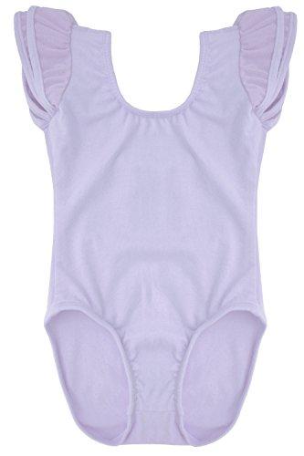 Dancina-Leotard-Flutter-Sleeve-Girls-Soft-Bodysuit-for-Gymnastics-Ballet-Barre-and-Zumba-8-Lavender