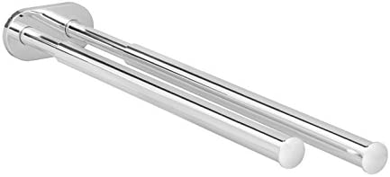 Gedotec Toallero Mural Extensible | Barras en Aluminio Duradero, Pulido y Cromado para Toallas | TOWELL | Perchero Montado en Pared – Fácil ...