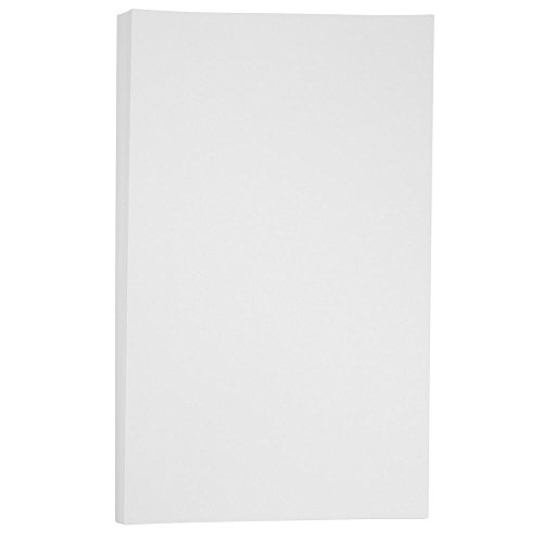 JAM PAPER Legal Vellum Bristol 67lb Cardstock - 8.5 x 14 Coverstock - White - 50 Sheets/Pack