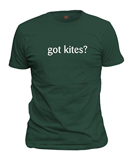 shirtloco Men's Got Kites T-Shirt, Forest Green Large