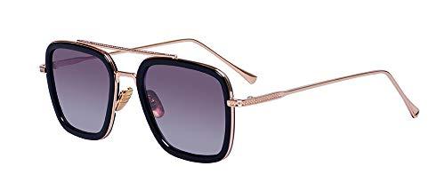 - Outray Vintage Aviator Sunglasses For Men Women Retro Square Designer Downey Iron Man Shades