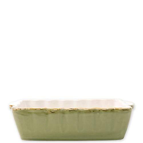 Vietri Italian Bakers Green Small Rectangular Baker