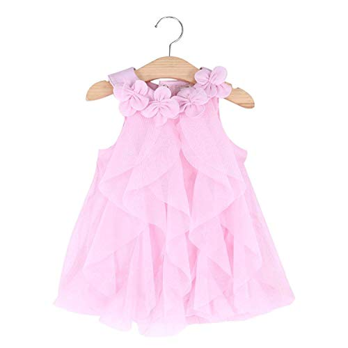 WZSYGDTC Baby Girls Sleeveless Romper Dress, Toddler Halloween One-Piece Jumpsuit (Pink, 6M)