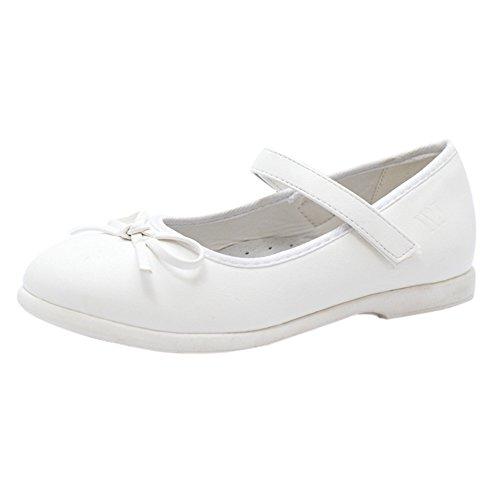 Weiß Mädchen Ballerinas Festliche Kommunionschuhe (11274N)