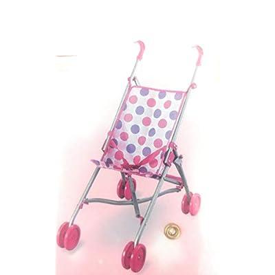 Lollipop Pink Dots Folding Doll Stroller: Toys & Games