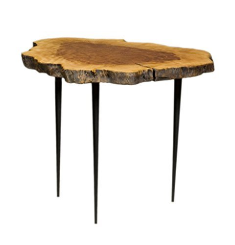 Price comparison product image East At Main Tamarin wood top table with metal pin base,  (Medium) / (23.6x23.6x29)