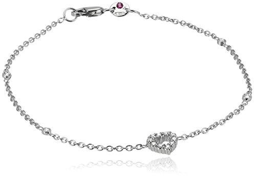Roberto Coin Tiny Treasures Diamond Open Heart Charm Bracelet