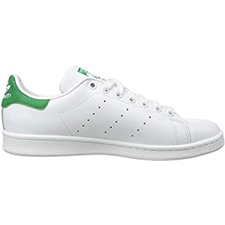 adidas Originals Men's Stan Smith Leather Sneaker, Footwear White/Core White/Green, 8