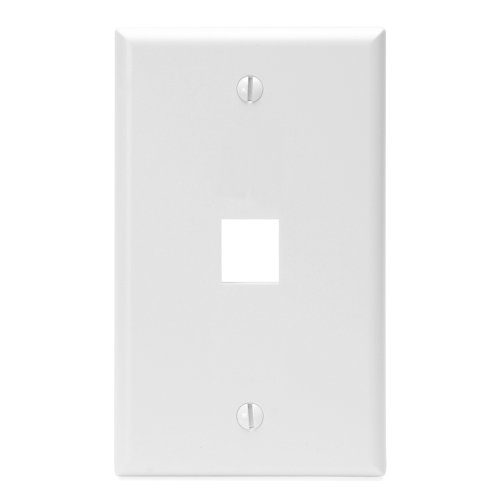 - Leviton 41080-1WP 1-Port QuickPort Wall Plate, White