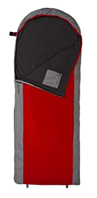 TETON Sports Journey +40 Degree F Ultralight Sleeping Bag 2.3 lbs 90x33in Red/Grey