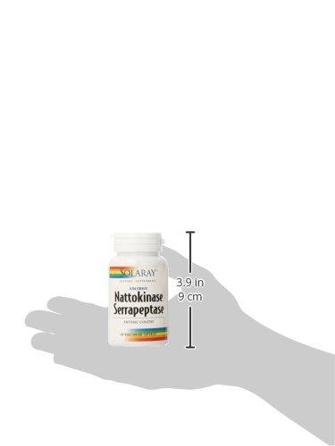 Solaray Nattokinase and Serrapeptase Supplement, 30 Count