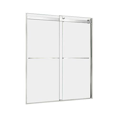 "DreamLine SHDR-636076H-01 Essence-H 56-60"" W x 76"" H Frameless Bypass Shower Door, Chrome"