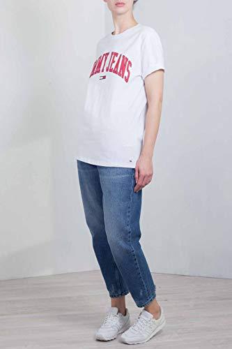 shirt Tommy Collegiate Blanc Femme Blanche T Logo Jeans qWBRWxgaE