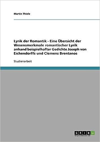 Gedicht Joseph Von Eichendorff Romantik Beliebteste