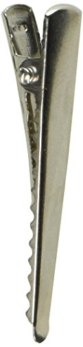 PEPPERLONELY Brand 50PC Silver Tone Alligator Hair Clips 2 Inch ()