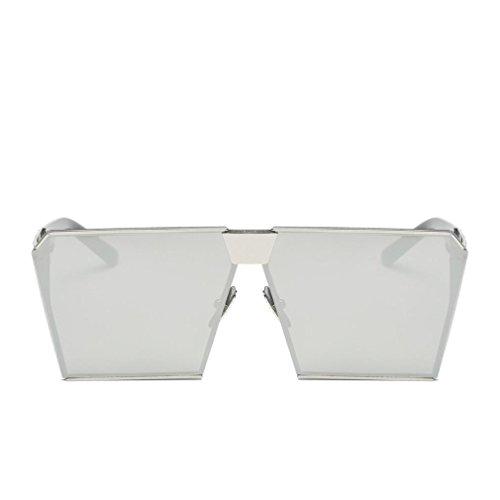 Lente Hombres Espejo sol de de Aviator VENMO H Mujeres Para Exterior Rectángulo Moda Gafas BCnXx