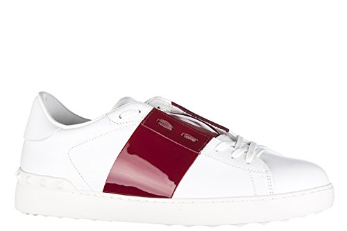 Valentino chaussures baskets sneakers homme en cuir blanc