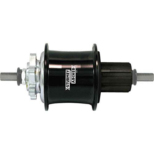 Sturmey Archer 3x9-speed alloy disc hub, 32h - black anodized ()