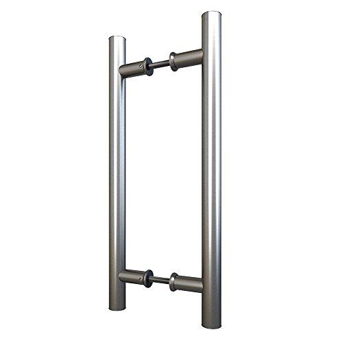 15-3/4inch Stainless Steel Sliding Barn Door Pull Handle Set Double Side Bar - Pull Side