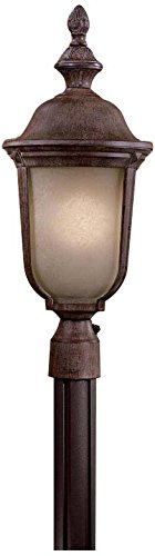 Minka Lavery Minka 8995-61-PL Traditional One Light Post Mount from Ardmore Collection in Bronze/Darkfinish 1 Outdoor, Upc-747396050416 -